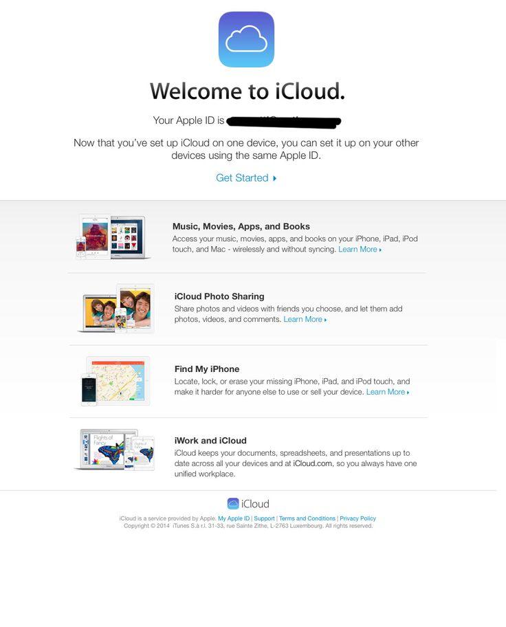 mensaje bienvenida icloud mailup