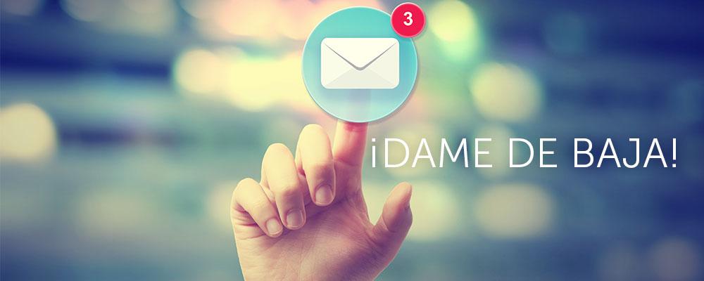 Enlace darse de baja email