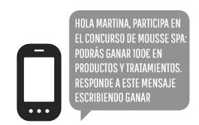 El SMS para proponer concursos con premios