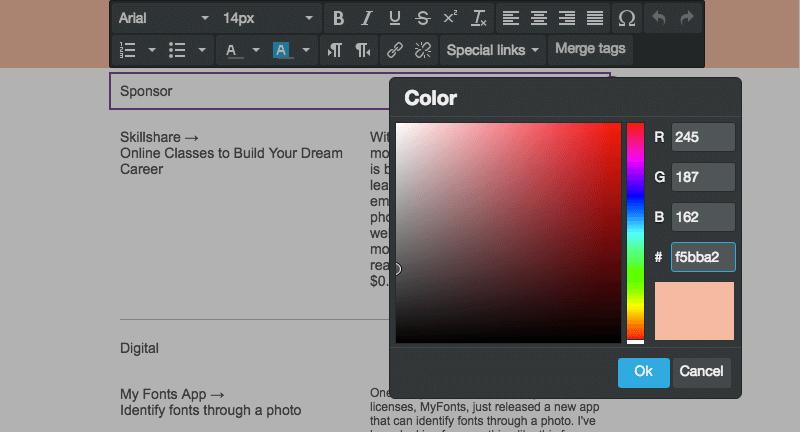 Personalizar los colores del texto