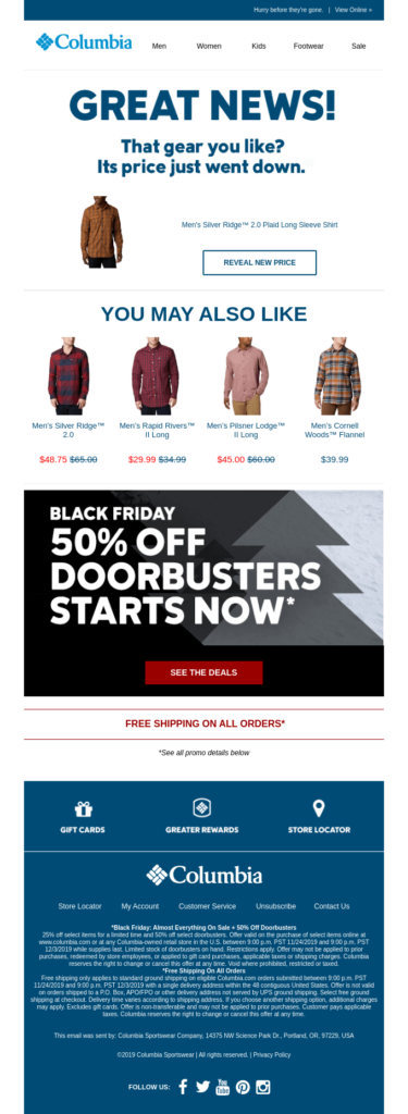 columbia campaign for black friday