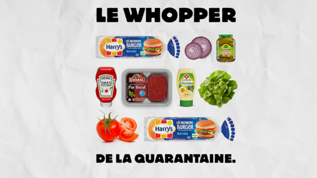 le whopper de la quarantine burger king