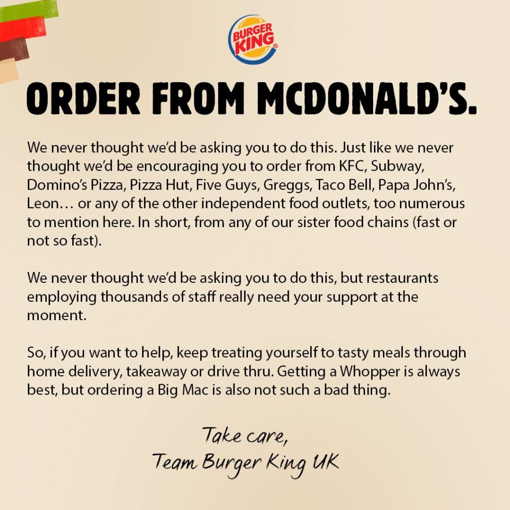 burger king order from mcdonald's campaign