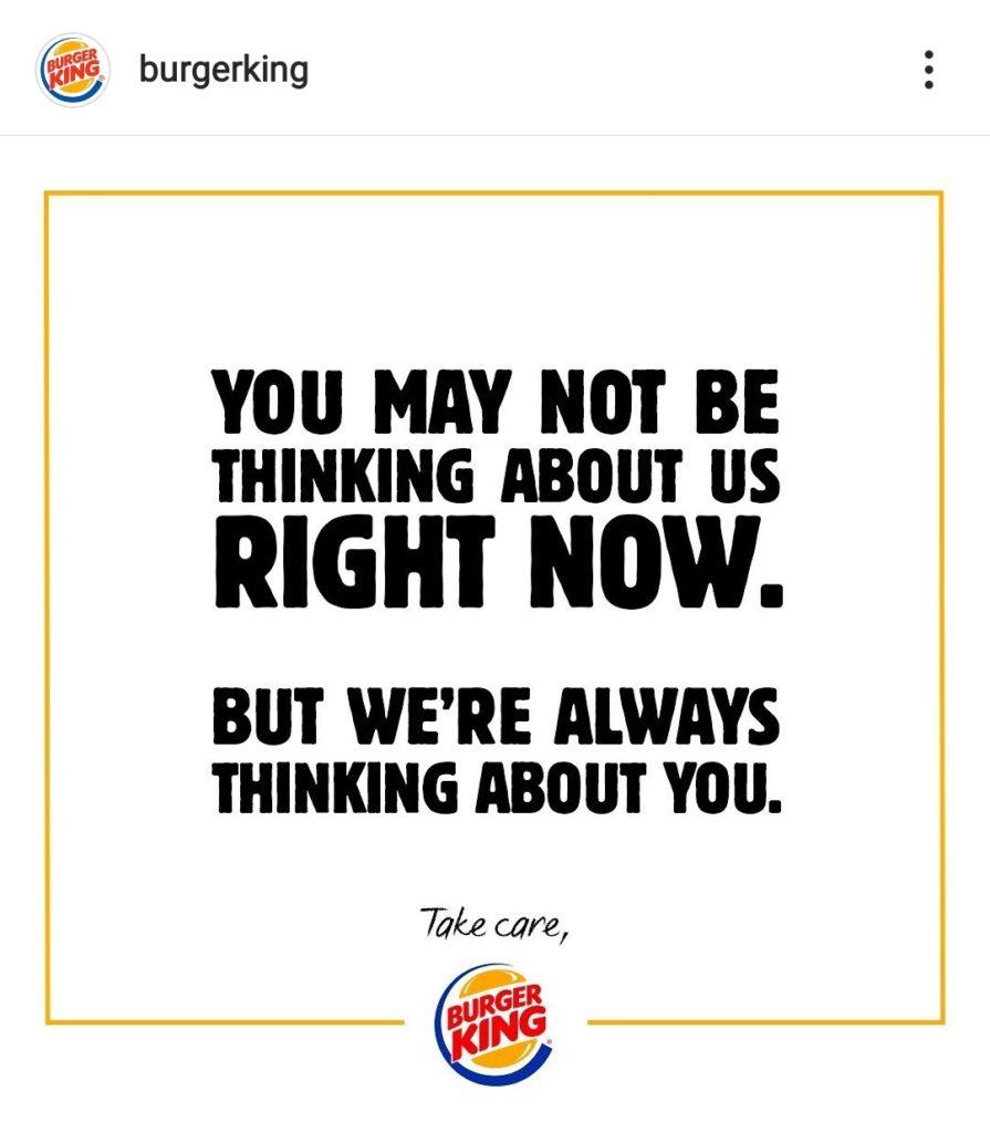 burger king covid campaign