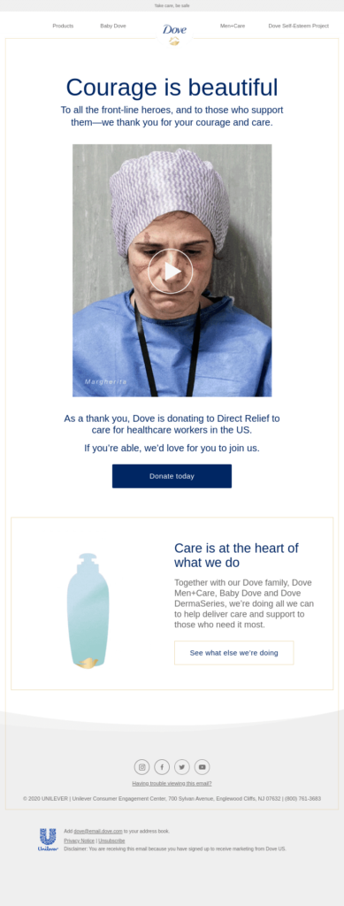 dove courage is beautiful email