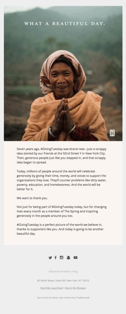 charity water emocional