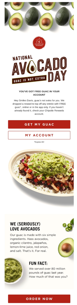 chipotle national avocado day