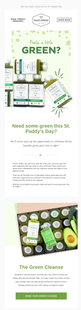 pulp press happy st. patrick's day