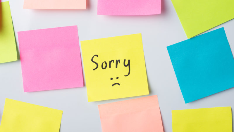 email de disculpa