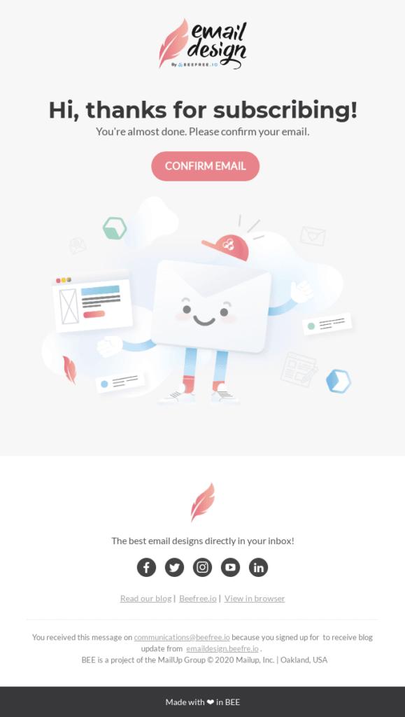 E-mail de bienvenida