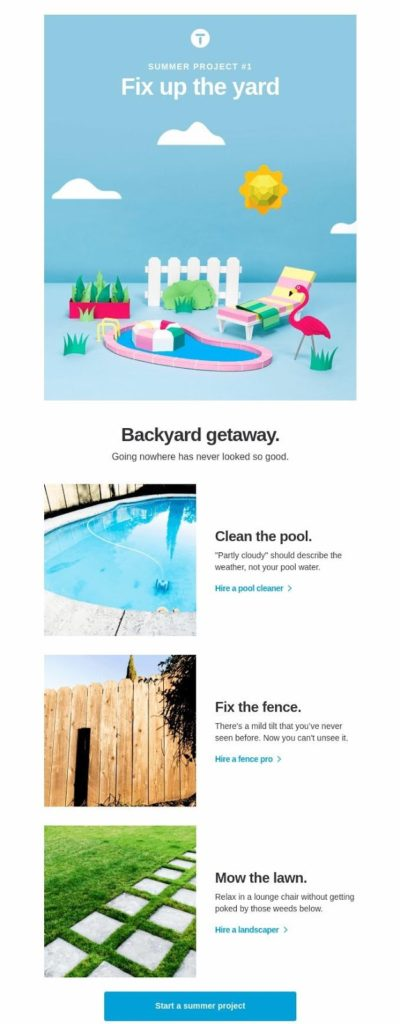 campaña de goteo summer project 1