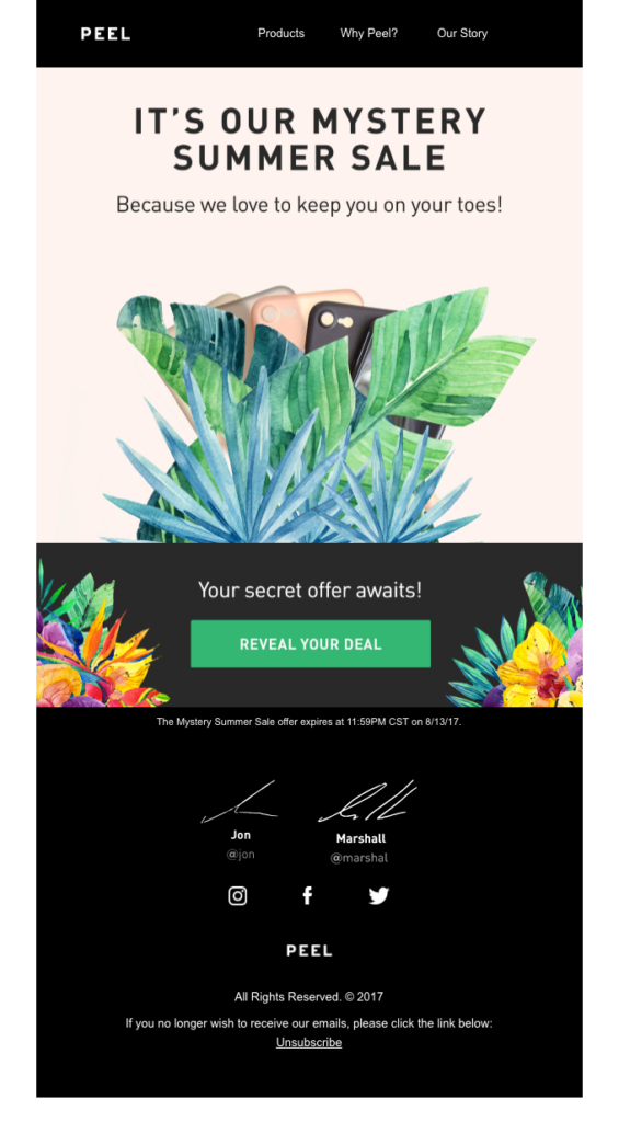 e-mail del verano peel